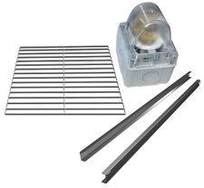 Immagine di alcuni optional armadi refrigerati (griglia, guide e luce)