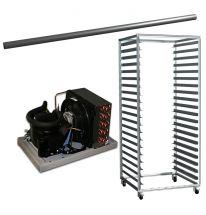 Immagini di optional per celle frigo (Motore remoto, rastrelliera e ganciera)