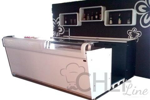 Bancone barman con retrobanco 2 5 metri tuttomensola for Arredo bar usato