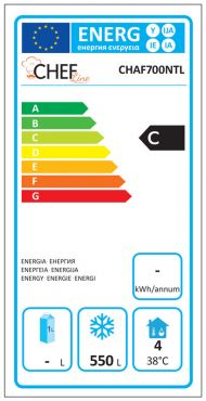 Classe Energetica Congelatore Professionale 700 Negativo