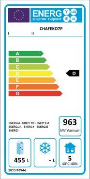 Classe Energetica Armadio Refrigerato Verticale Professionale Positivo 700