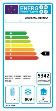 Classe Energetica Congelatore Verticale Professionale 1400 Con Ruote