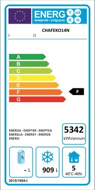 Classe Energetica Congelatore Verticale Professionale 1400