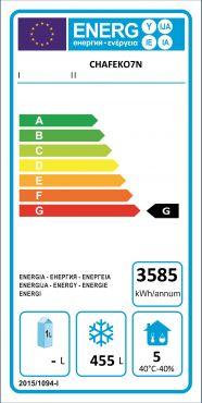Classe Energetica Congelatore Verticale Professionale 700