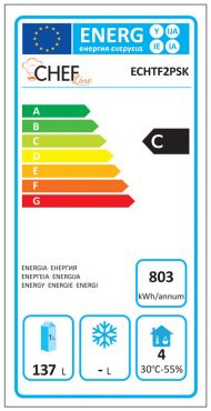 Classe Energetica Tavolo Frigo ECHTF2PSK