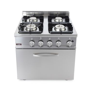 cucina-gas-4-fuochi-forno-gas-20GX7F4+FG-chefline-front