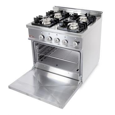 cucina-gas-4-fuochi-forno-gas-20GX7F4+FG-chefline-open