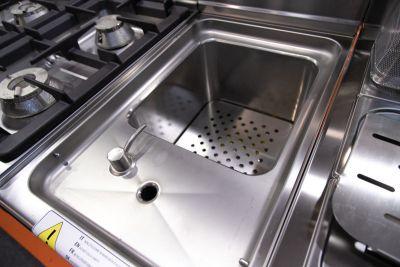 cuocipasta gas su mobile 30 litri profondita 70 chefline 2