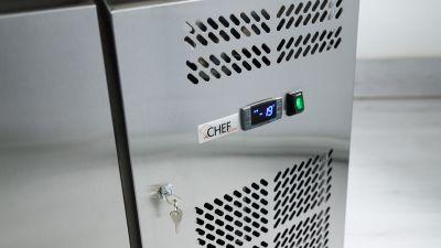 Dettaglio Tavolo Refrigerato 2 Porte Positivo Chefline 5