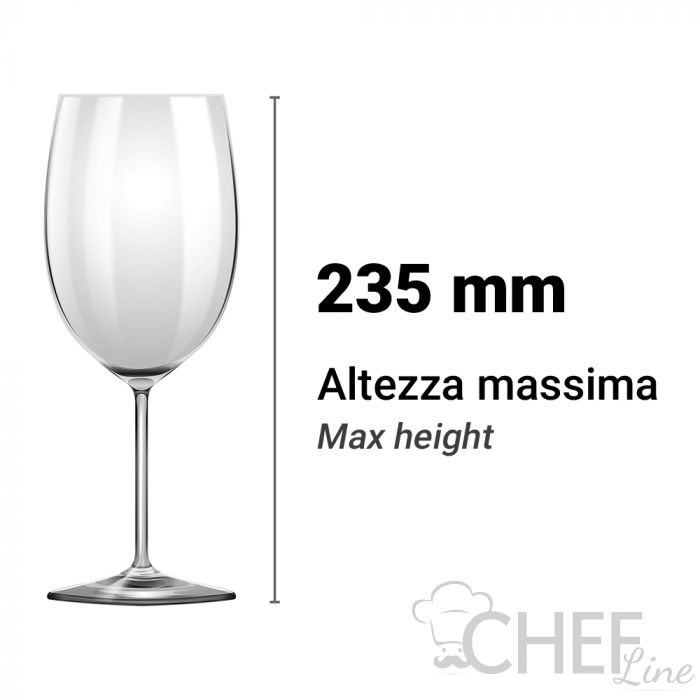 Altezza Utile Lavastoviglie Lavabicchieri 235 mm Chefline