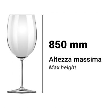Altezza Utile Lavastoviglie Lavabicchieri 850 mm Chefline