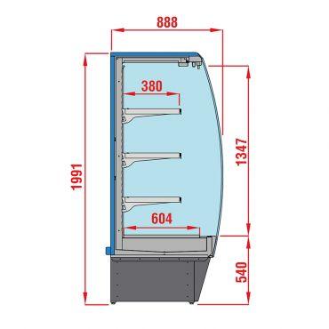 sezione-murale-refrigerato-lido-salumi-latticini-profondita-80-chefline