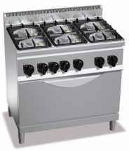 Cucine Professionali A Gas 6 Fuochi Serie 60