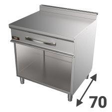 Piani Di Lavoro E Supporti In Acciaio Inox Serie 70 Per Cucina Professionale