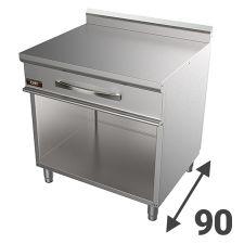 Piani Di Lavoro In Acciaio Inox Serie 90 Per Cucina Professionale