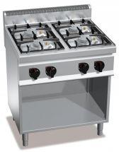 Cucina Professionale 4 Fuochi Eco Power Profondità 70 cm