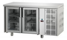 Tavolo Refrigerato 2 Porte In Vetro Con Piano Pr. 70 cm