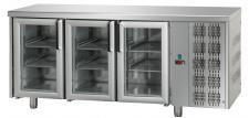 Tavolo Refrigerato 3 Porte In Vetro Con Piano Pr. 70 cm
