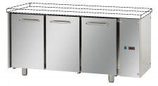 Tavolo Refrigerato 3 Porte Senza Piano A Motore Remoto Pr. 70 cm