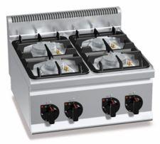 Cucina Professionale 4 Fuochi Da Banco Eco Power Profondità 60 cm