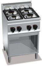 Cucina Professionale 4 Fuochi Light Power Profondità 60 cm