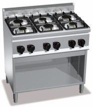 Cucina Professionale 6 Fuochi Light Power Profondità 60 cm