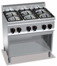 Cucina Professionale 6 Fuochi Profondità 60 cm