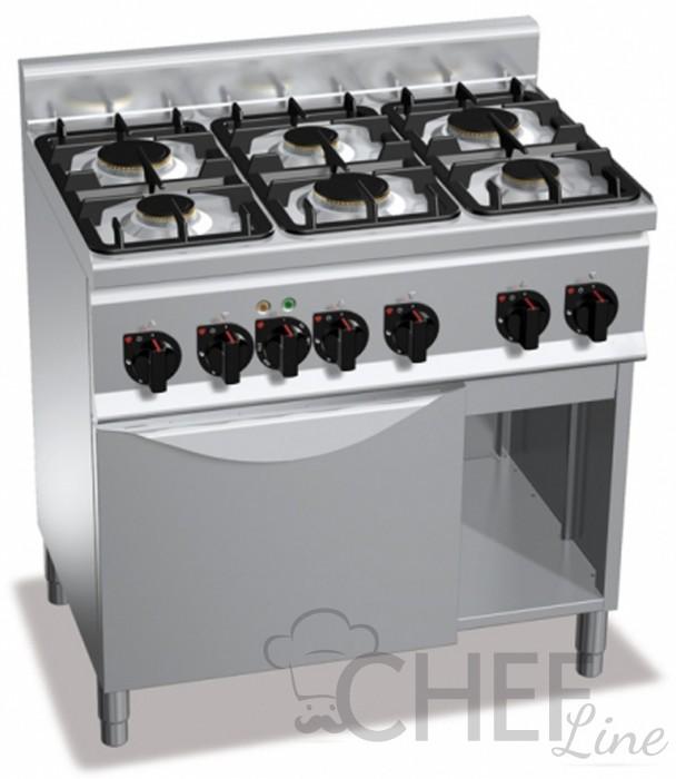 Cucina professionale con forno chgx6f6 fe1 chefline - Profondita cucina ...