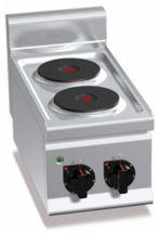 Cucina Elettrica Professionale 2 Piastre Tonde Banco Profondità 60 cm