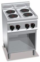 Cucina Elettrica Professionale 4 Piastre Tonde Profondità 60 cm