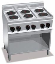 Cucina Elettrica Professionale 6 Piastre Tonde Profondità 60 cm
