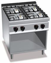 Cucina Professionale 4 Fuochi Eco Power Profondità 90