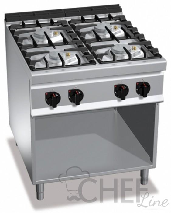 Cucina a gas professionale chefline - Attrezzatura cucina professionale ...