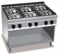 Cucina Professionale 6 Fuochi Eco Power Profondità 90 cm