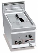 Friggitrice Professionale A Gas Da Banco Capienza 8 Lt Profondità 60 cm