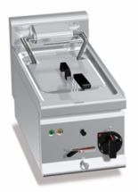 Friggitrice Elettrica Professionale Da Banco Capacità 10 Lt Profondità 60 cm