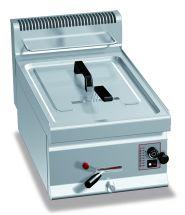 Friggitrice Professionale A Gas Da Banco Capacità 10 Lt Profondità 70 cm