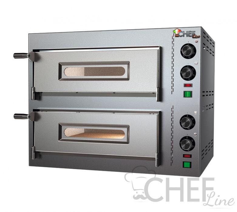 Forno Pizza Elettrico Compact Doppio 2 Pizze Diametro 25 Cm