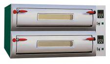 Forno Pizza Elettrico Digitale Professional Laterale Doppio (6 + 6) Pizze Diametro 34 cm