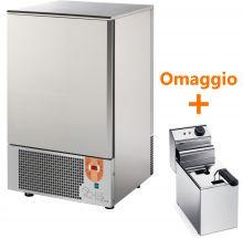 Abbattitore di Temperatura Surgelatore 10 Teglie GN1/1 - 60x40 + Friggitrice Snack 5 Omaggio