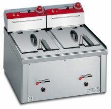 Friggitrice Professionale Da Banco Elettrica Capacità 9 + 9 Lt