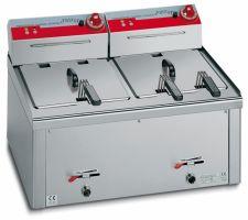 Friggitrice Professionale Da Banco Elettrica Capacità 13 + 13 Lt