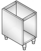 Supporto Inox Singolo Per Cucina Professionale Profondità 60 cm