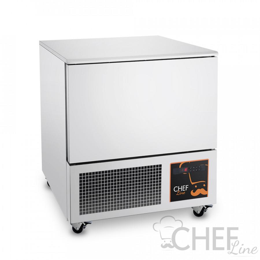 Abbattitore di Temperatura Surgelatore 5 Teglie Ristorante e Pasticceria Con Ruote