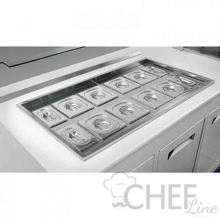 Vaschette GN Con Coperchi Per Vasca Refrigerata