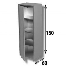 Armadio Acciaio Inox AISI 304 Porta A Battente Profondità 60 cm Altezza 150 cm