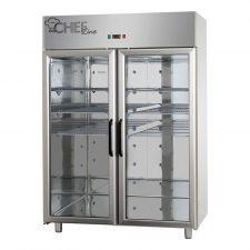 Armadio Refrigerato 1400 0°C/+10°C Doppio Porte Vetro