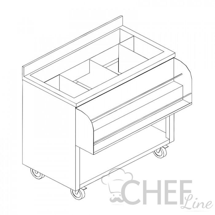 Immagine banco preparazione cocktail Chefline profondità 50