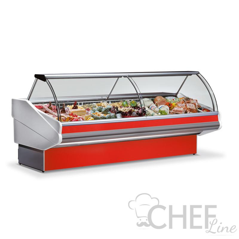 Banco Frigo Alimentari Salina Plus +3°C/+5°C 300 Cm Full Optional Rosso