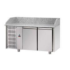 Banco Pizza Refrigerato 2 Porte Piano Granito